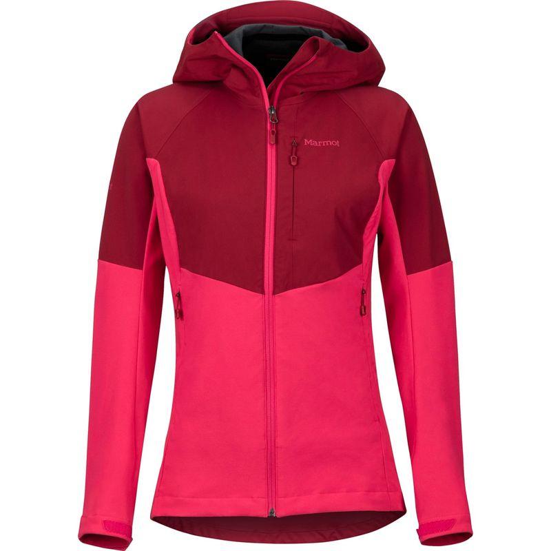 マーモット レディース ジャケット・ブルゾン アウター Womens ROM Jacket XS - Sienna Red/Disco Pink