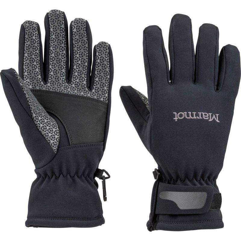 マーモット レディース 手袋 アクセサリー Womens Glide Softshell Glove XS - Black