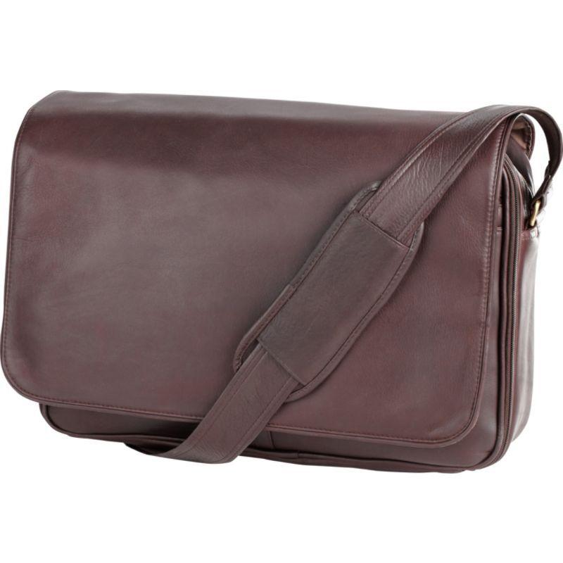 クレバ メンズ スーツケース バッグ Leather Laptop Mailbag / Sling Vachetta Cafe