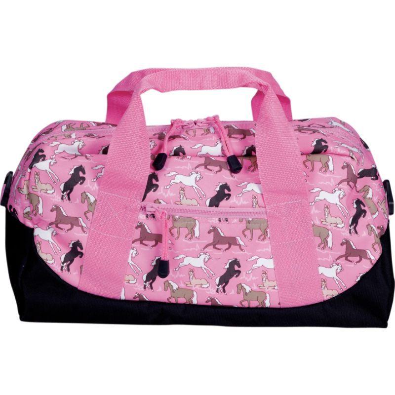 ワイルドキン メンズ スーツケース バッグ Horses in Pink Duffel Bag Horses in Pink