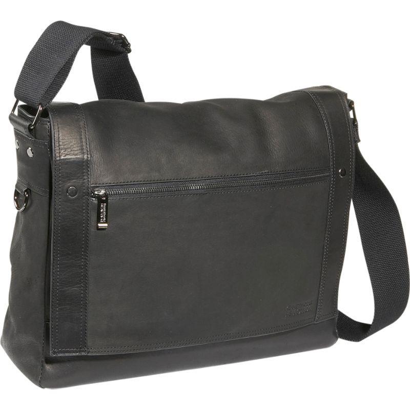 ケネスコール メンズ ショルダーバッグ バッグ Busi-Mess Essentials - Colombian Leather Messenger Bag Black