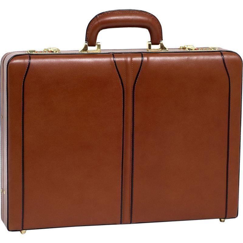 マックレイン メンズ スーツケース バッグ Lawson Leather Attache Case Brown
