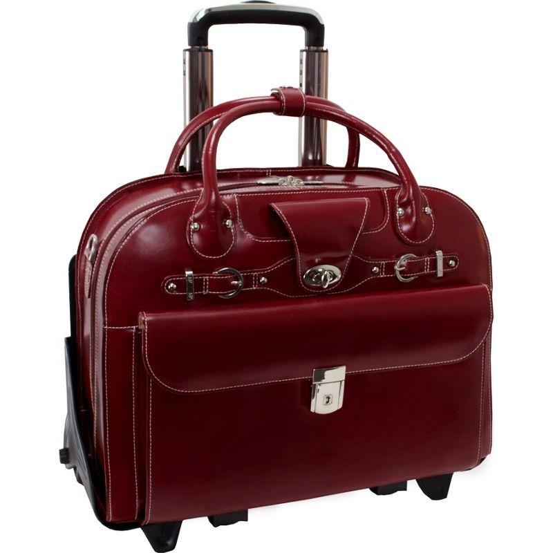マックレイン メンズ スーツケース バッグ Roseville 15 Fly-Through Checkpoint-Friendly Removable Rolling Ladies' Laptop Case Red