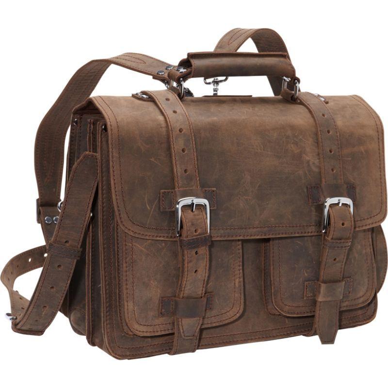 ヴァガボンドトラベラー メンズ スーツケース バッグ 16 CEO Full Leather Briefcase & Backpack Vintage Brown