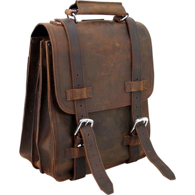 ヴァガボンドトラベラー メンズ スーツケース バッグ 14 Leather Travel Backpack Brief Vintage Brown