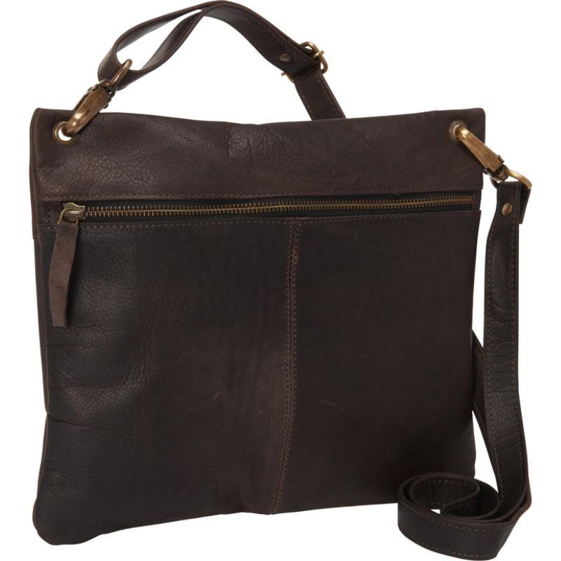 シャロレザーバッグス レディース ボディバッグ・ウエストポーチ バッグ Women's Dark Brown Cross Body Bag Dark Brown