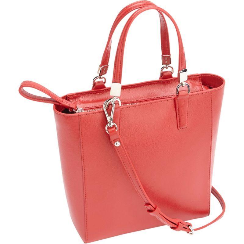 ロイスレザー メンズ トートバッグ バッグ RFID Blocking Saffiano Leather Mini Tote Cross Body Bag Red