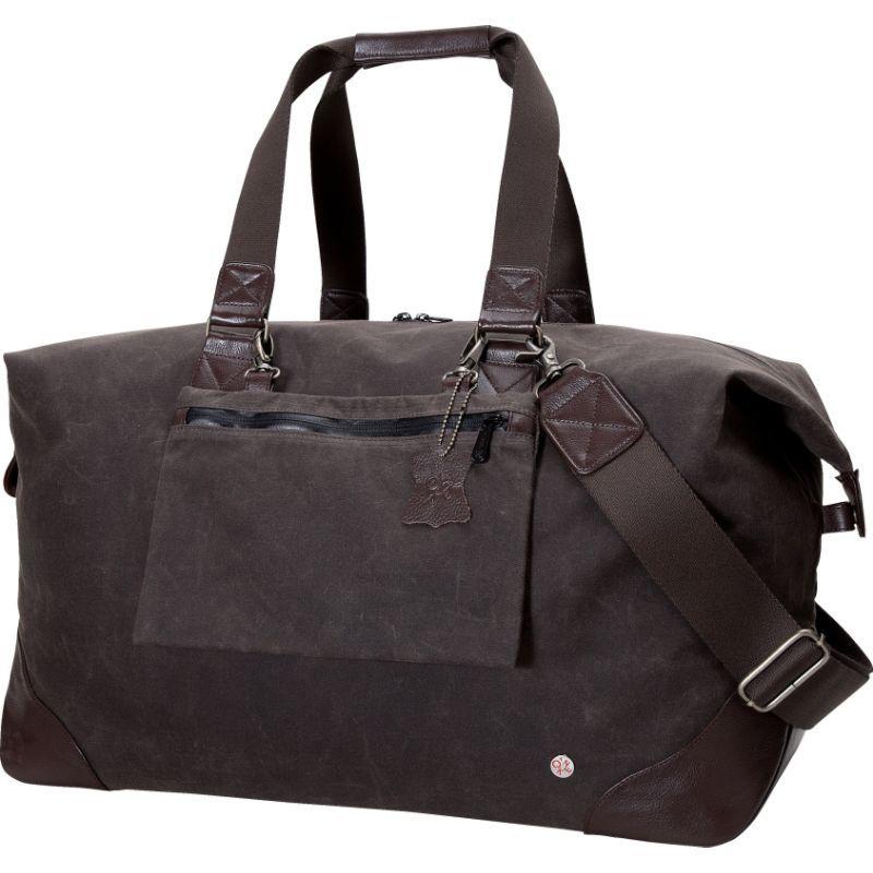 トーケン メンズ スーツケース バッグ Lafayette Waxed Duffel Bag Dark Brown