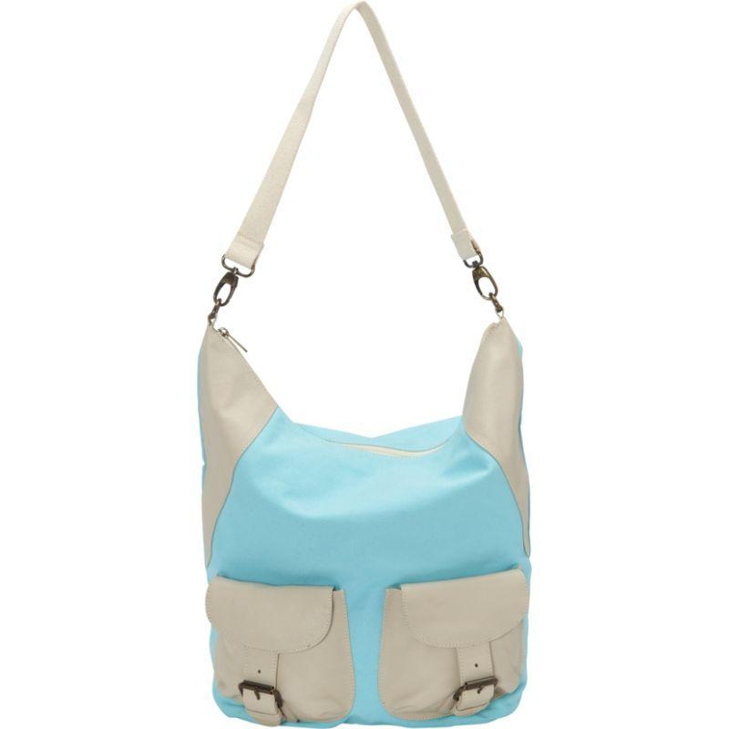 シャロレザーバッグス メンズ ショルダーバッグ バッグ Large Canvas and Leather Tote Shoulder Bag Turquoise/Beige Two Tone