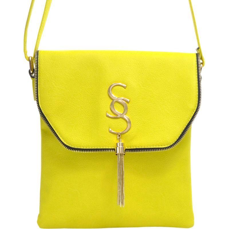 ダセイン メンズ ボディバッグ・ウエストポーチ バッグ Double Pocket Tassel Messenger Bag Yellow