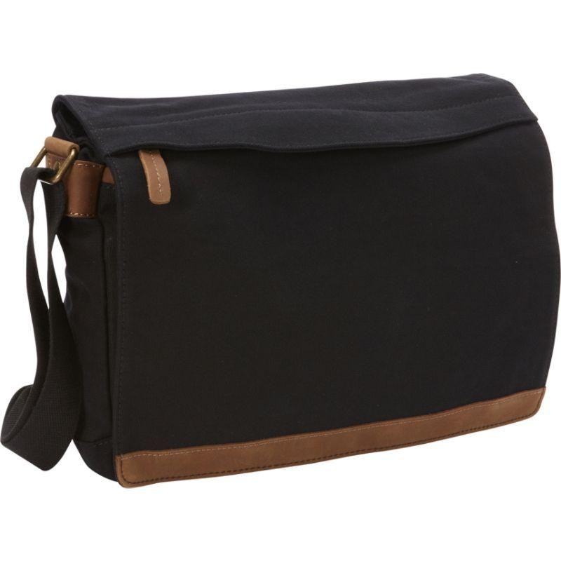 ヴァガボンドトラベラー メンズ ショルダーバッグ バッグ Casual Style Canvas Messenger Bag Black
