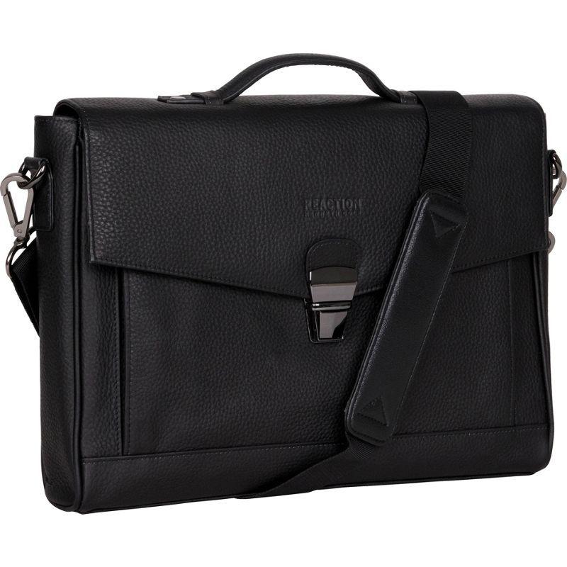 ケネスコール メンズ スーツケース バッグ Modern Port-sonality Pebbled Colombian Leather Slim Flapover 13 Computer Portfolio Black