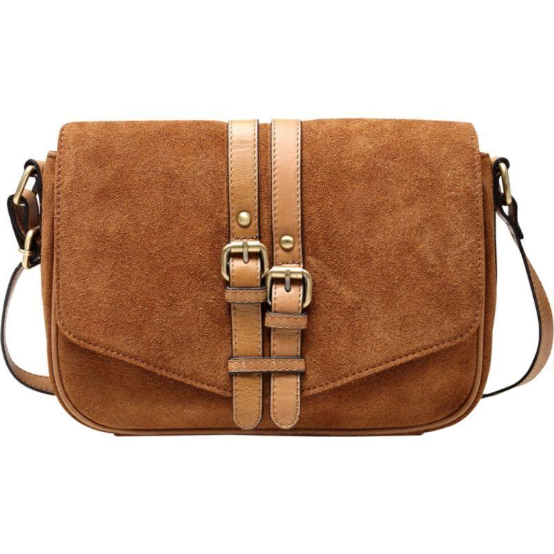 ビンセンゾレザー メンズ ボディバッグ・ウエストポーチ バッグ Jeanie Suede Leather Crossbody Handbag Brown