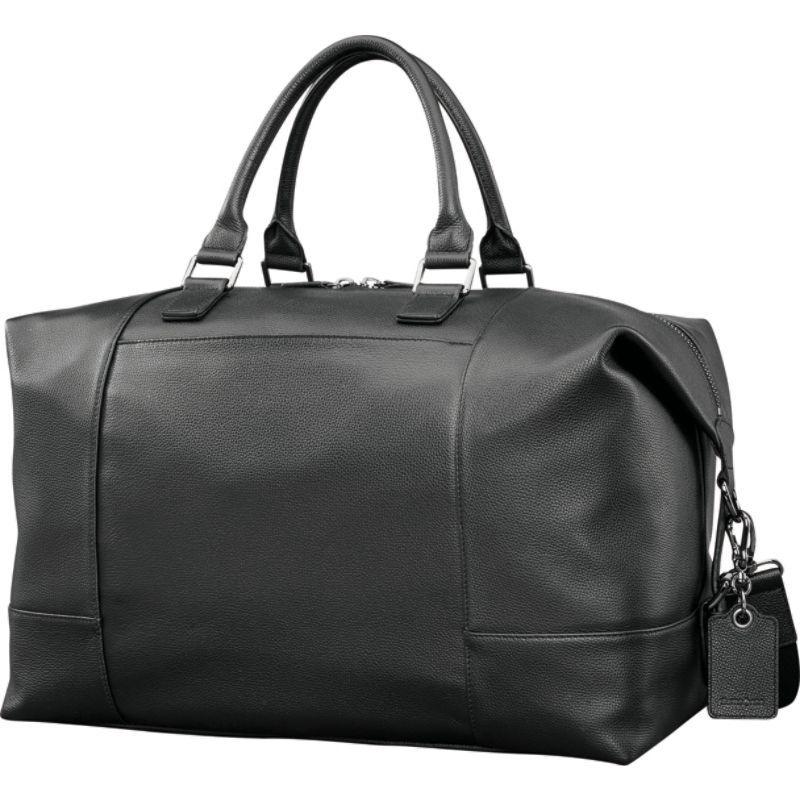 サムソナイト メンズ スーツケース バッグ Mens Leather Classic Weekender Black