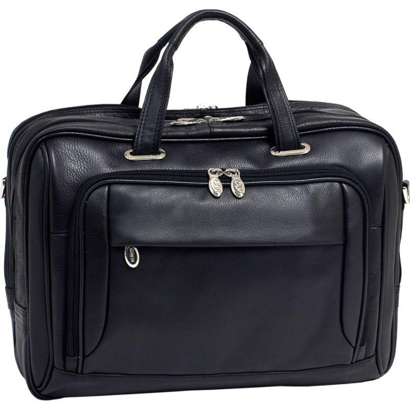 マックレイン メンズ スーツケース バッグ West Loop Leather 17 Laptop Case Black