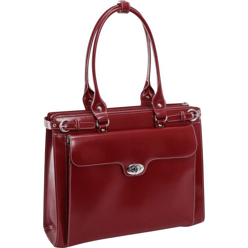 マックレイン レディース スーツケース バッグ W Series Winnetka Leather Women's 15.4 Laptop Case Red