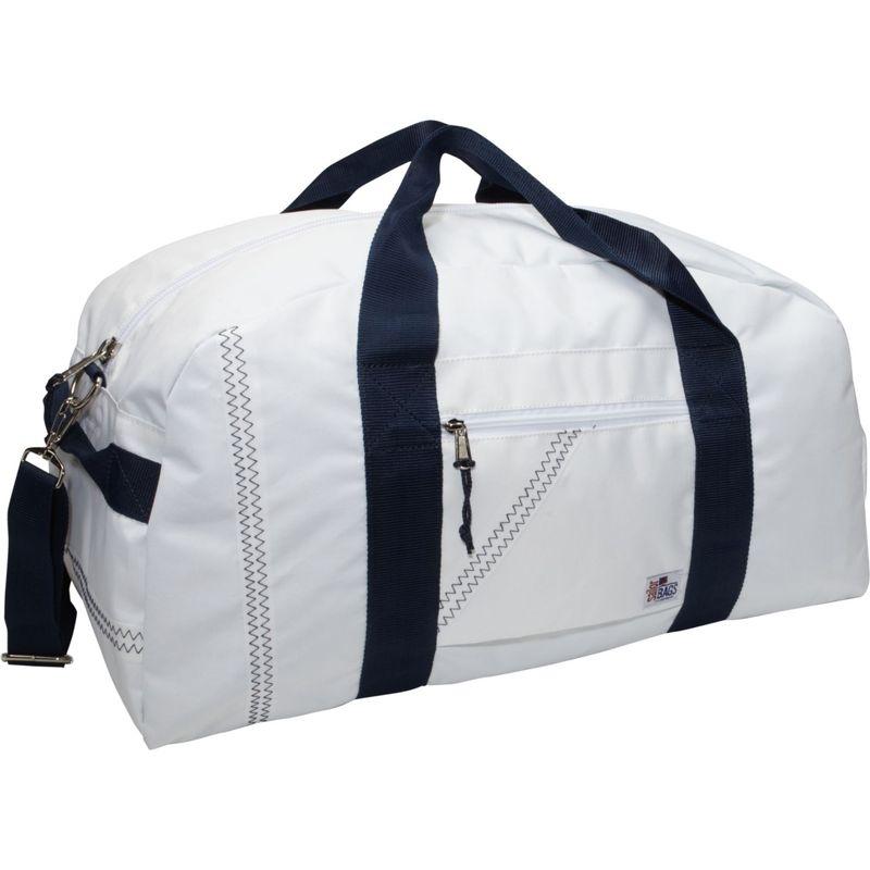 セイラーバッグ メンズ スーツケース バッグ Sailcloth Large Square Duffel White with Blue Straps