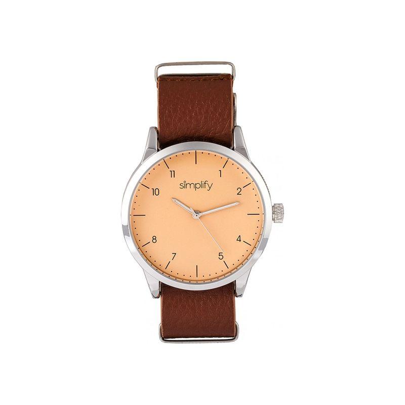 シンプリファイ メンズ 腕時計 アクセサリー The 5600 Watch Light Brown/Silver/Nude