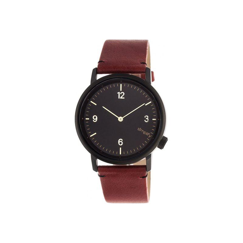 シンプリファイ メンズ 腕時計 アクセサリー The 5500 Watch Maroon/Black/Black