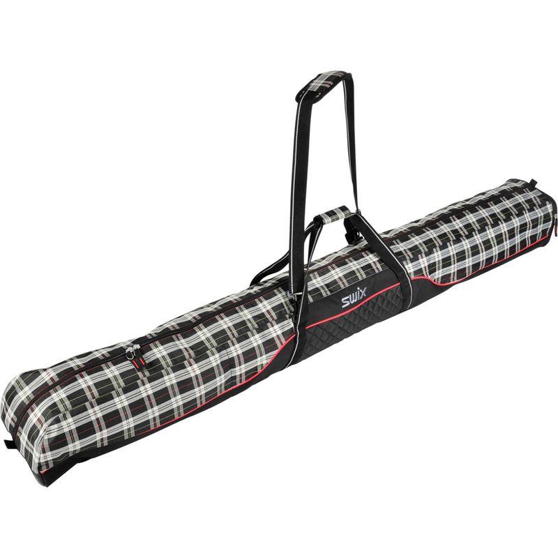 スウィックス メンズ ボストンバッグ バッグ Pat Single Ski Bag Black White Plaid