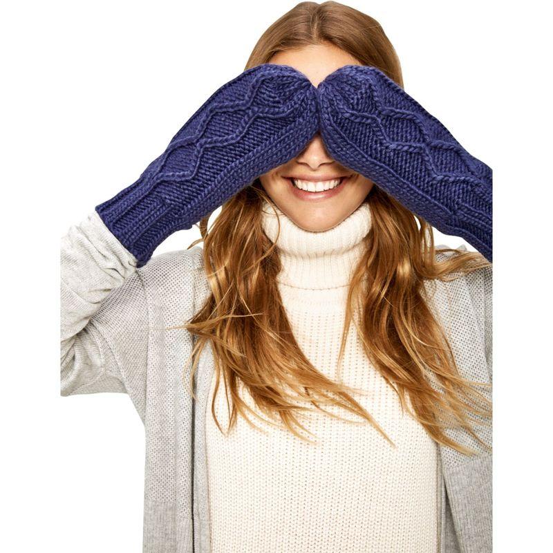 ロル レディース 手袋 アクセサリー Chunky Knitwear Mittens One Size - Dark Denim