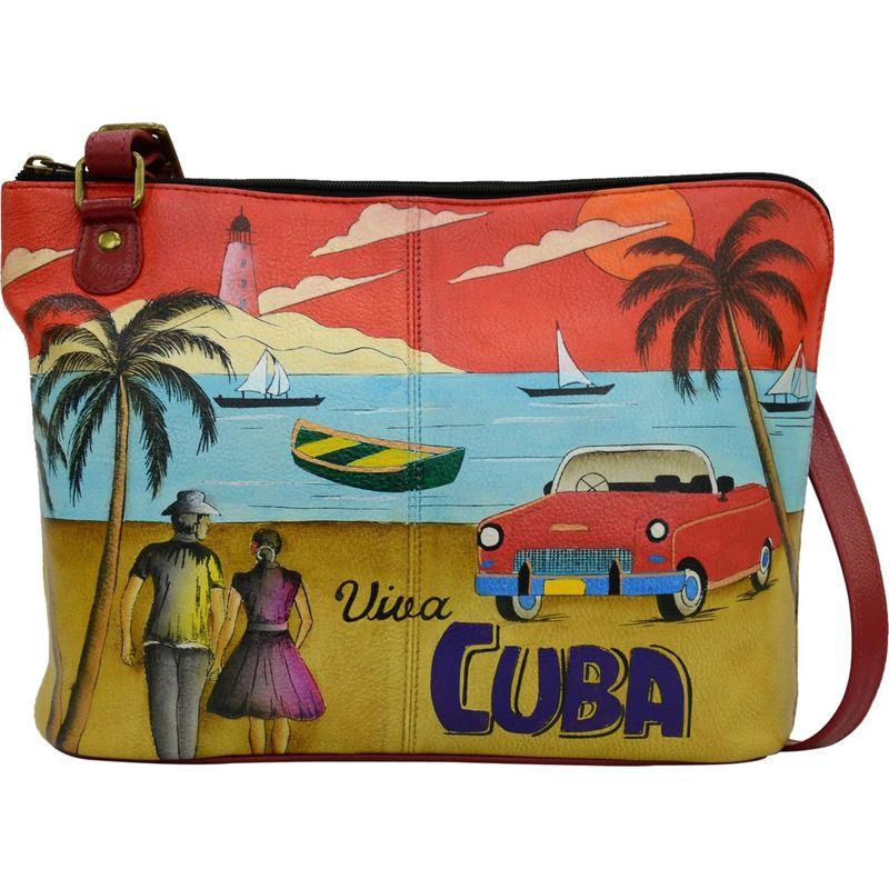 アンナバイアナシュカ メンズ ボディバッグ・ウエストポーチ バッグ Hand Painted Leather Two-Sided Zip Travel Organizer Viva Cuba