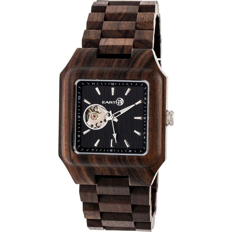 アースウッド メンズ 腕時計 アクセサリー Black Rock Watch Dark Brown