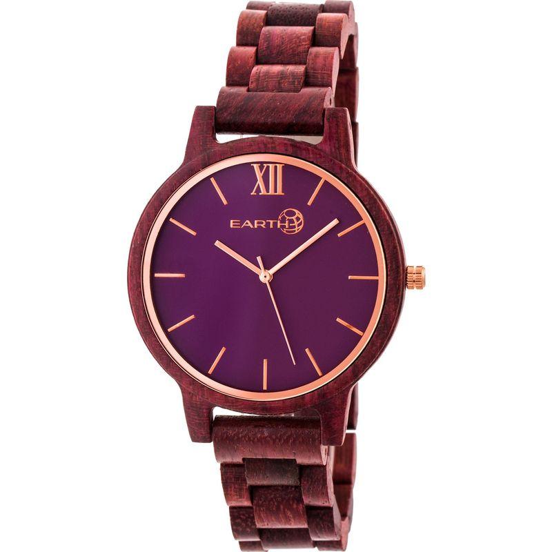 アースウッド メンズ 腕時計 アクセサリー Pike Watch Plum