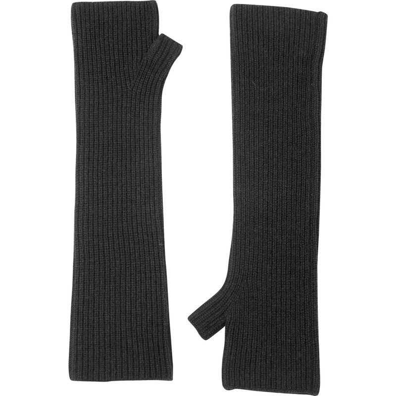 キンロスカシミア レディース 手袋 アクセサリー Rib Texting Gloves One Size - Charcoal