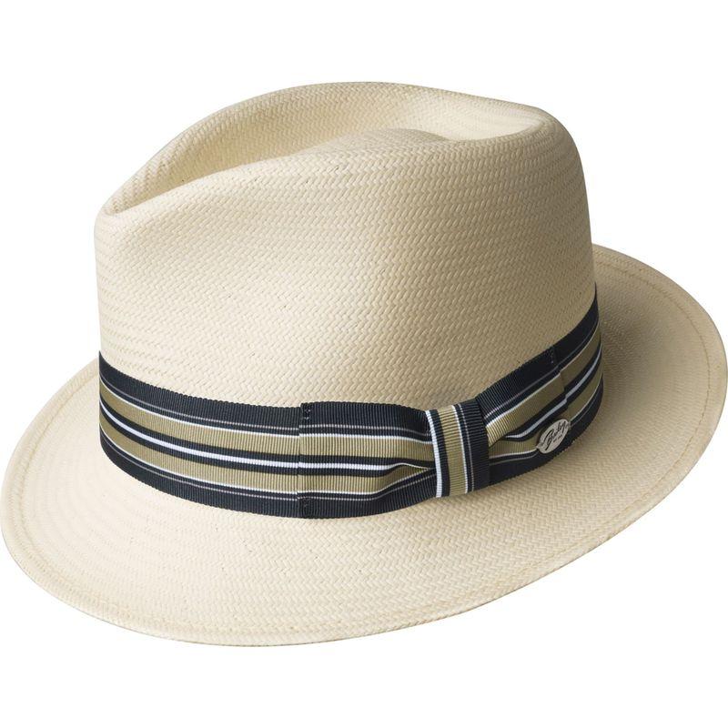 ベーリー オブ ハリウッド メンズ 帽子 アクセサリー Tharp Hat XL - Natural/Black Taupe Stripe