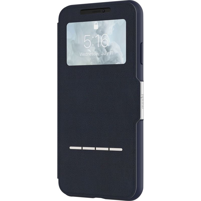 モシ メンズ PC・モバイルギア アクセサリー SenseCover Touch-Sensitive Portfolio Case for iPhone XS Max Midnight Blue