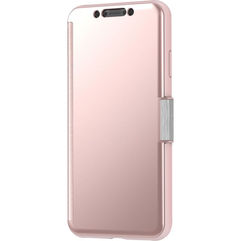 モシ メンズ PC・モバイルギア アクセサリー StealthCover Portfolio Case for iPhone XS Max Champagne Pink