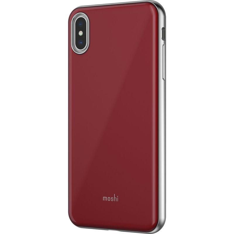 モシ メンズ PC・モバイルギア アクセサリー iGlaze Slim Hardshell Case for iPhone XS Max Merlot Red