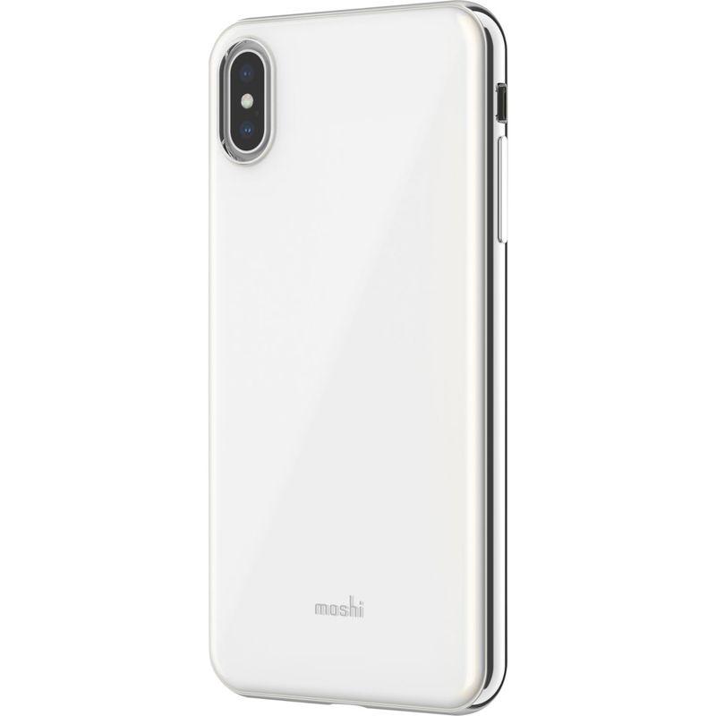 モシ メンズ PC・モバイルギア アクセサリー iGlaze Slim Hardshell Case for iPhone XS Max Pearl White
