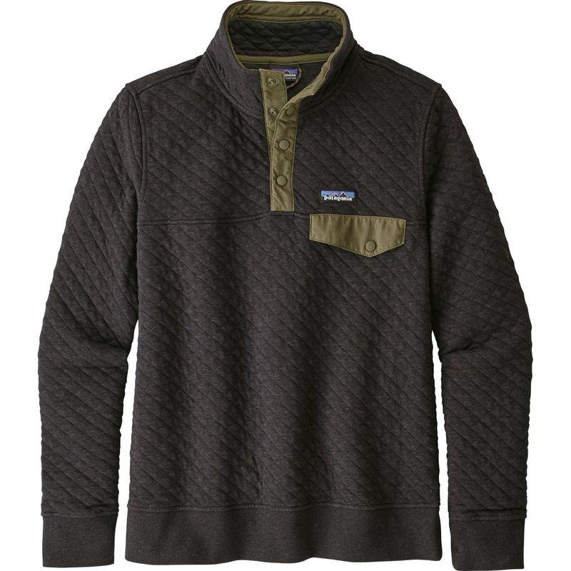 パタゴニア レディース ニット・セーター アウター Womens Organic Cotton Quilt Snap-T Pull-Over XS - Black - Discontinued