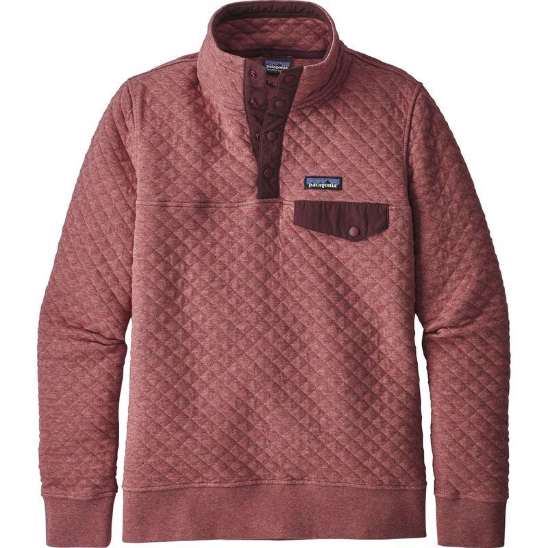 パタゴニア レディース ニット・セーター アウター Womens Organic Cotton Quilt Snap-T Pull-Over XS - Kiln Pink - Discontinued