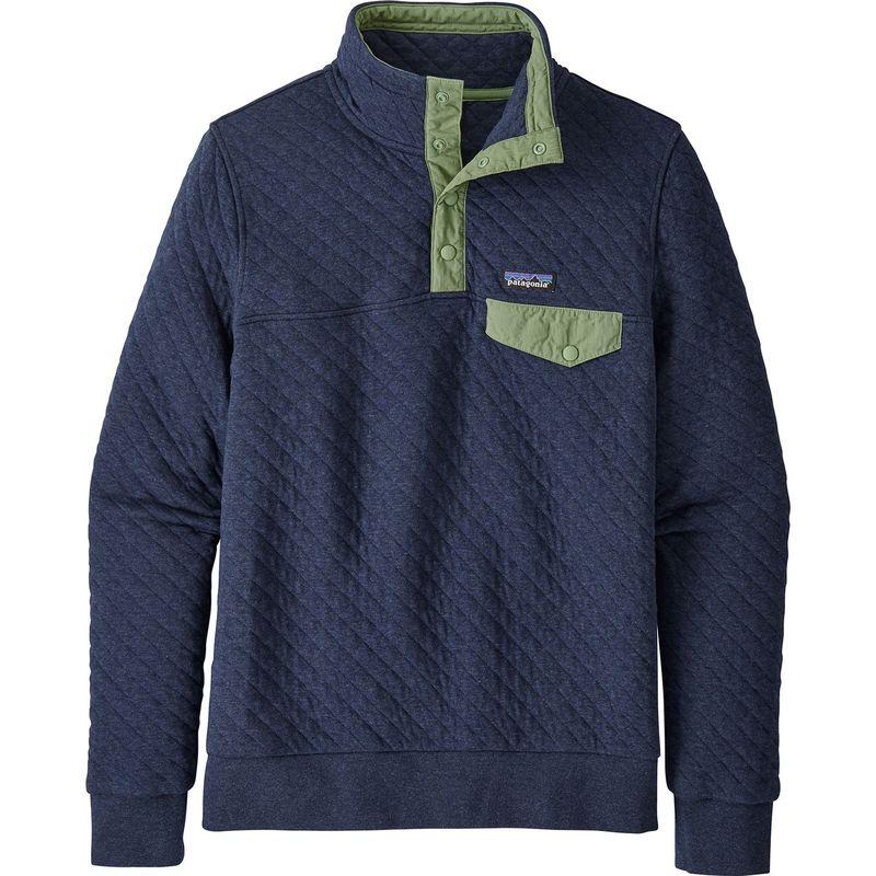 パタゴニア レディース ニット・セーター アウター Womens Organic Cotton Quilt Snap-T Pull-Over XS - New Navy