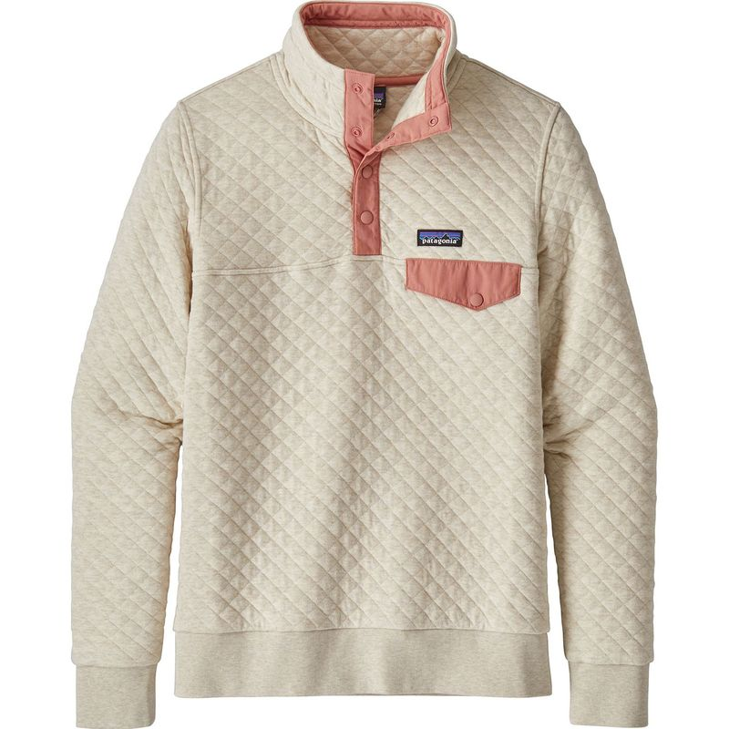 パタゴニア レディース ニット・セーター アウター Womens Organic Cotton Quilt Snap-T Pull-Over XS - Pelican