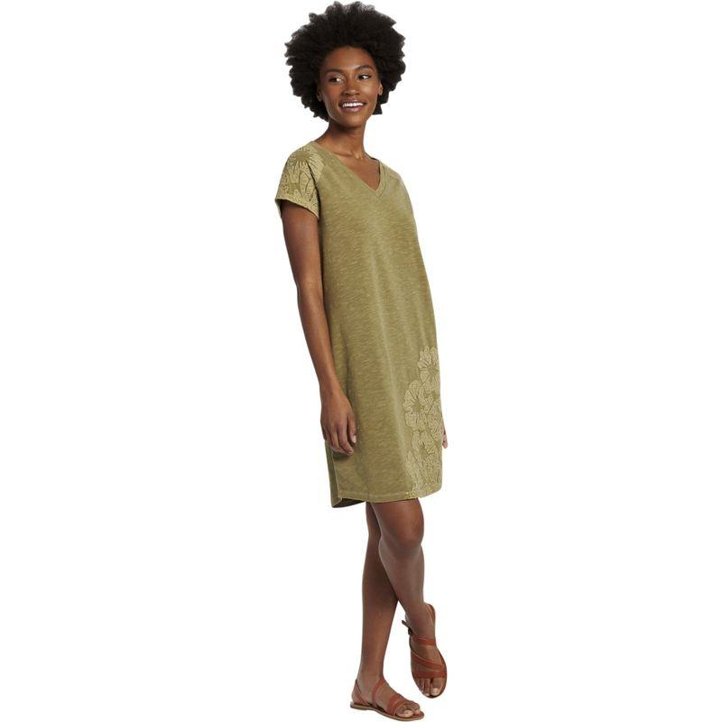 ライフイズグッド レディース ワンピース トップス Women's Slub Tee Dress S - Fatigue Green