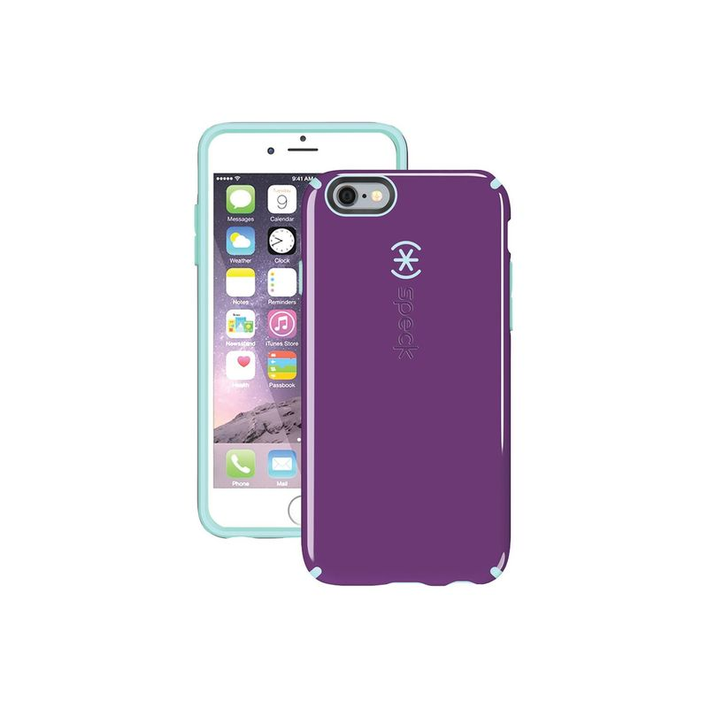 スペック メンズ PC・モバイルギア アクセサリー IPhone 6 Plus/6s Plus Candyshell Case Acai Purple / Aloe Green