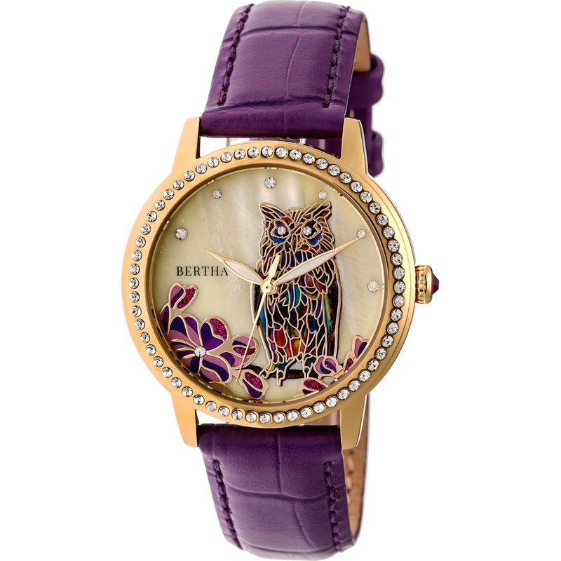 ベルサ メンズ 腕時計 アクセサリー Madeline Mother-of-Pearl Women's Watch Plum