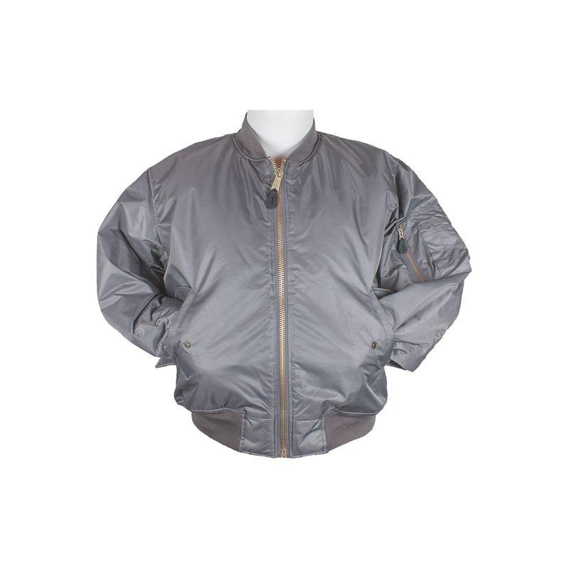 フォックスアウトドア メンズ ジャケット・ブルゾン アウター Mens MA-1 Flight Jacket S - Grey