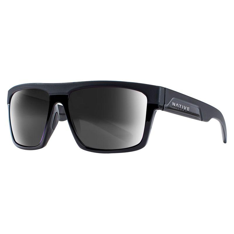 ネイティブアイウェア メンズ サングラス・アイウェア アクセサリー El Jefe Sunglasses Matte Black/Gloss Black with Polarized Gray (930 5