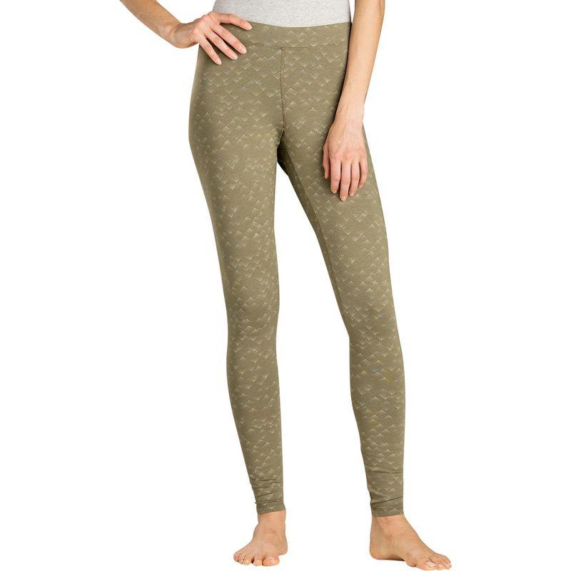 トードアンドコー レディース カジュアルパンツ ボトムス Womens Printed Lean Legging M - Rustic Olive Dot Print