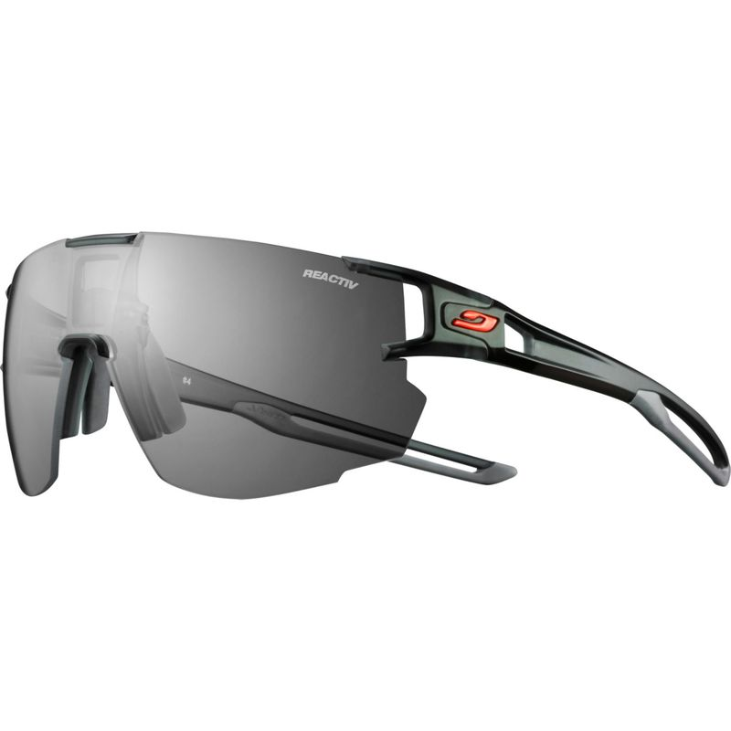 ジュルボ メンズ サングラス・アイウェア アクセサリー AeroSpeed Sunglasses with Reactiv Performance 0/3 Lenses Translucent Black/Gray
