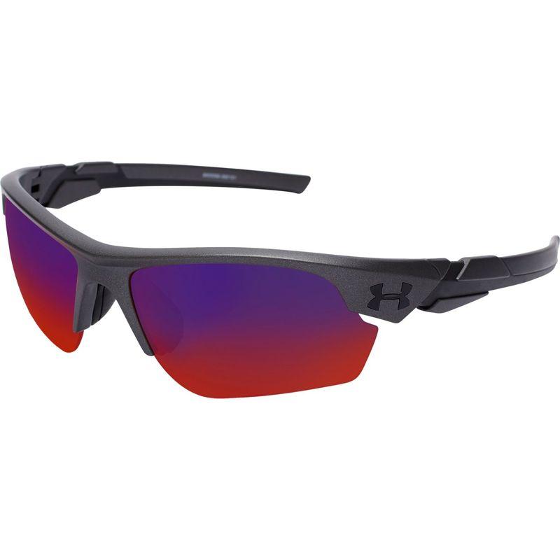 アンダーアーマー メンズ サングラス・アイウェア アクセサリー Windup Sunglasses Satin Carbon/Black Frame/Gray/Infrared Multiflecti
