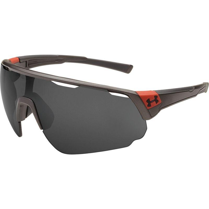 アンダーアーマー メンズ サングラス・アイウェア アクセサリー Changeup Sunglasses Satin Carbon/Red Frame/Gray Multiflection Lens