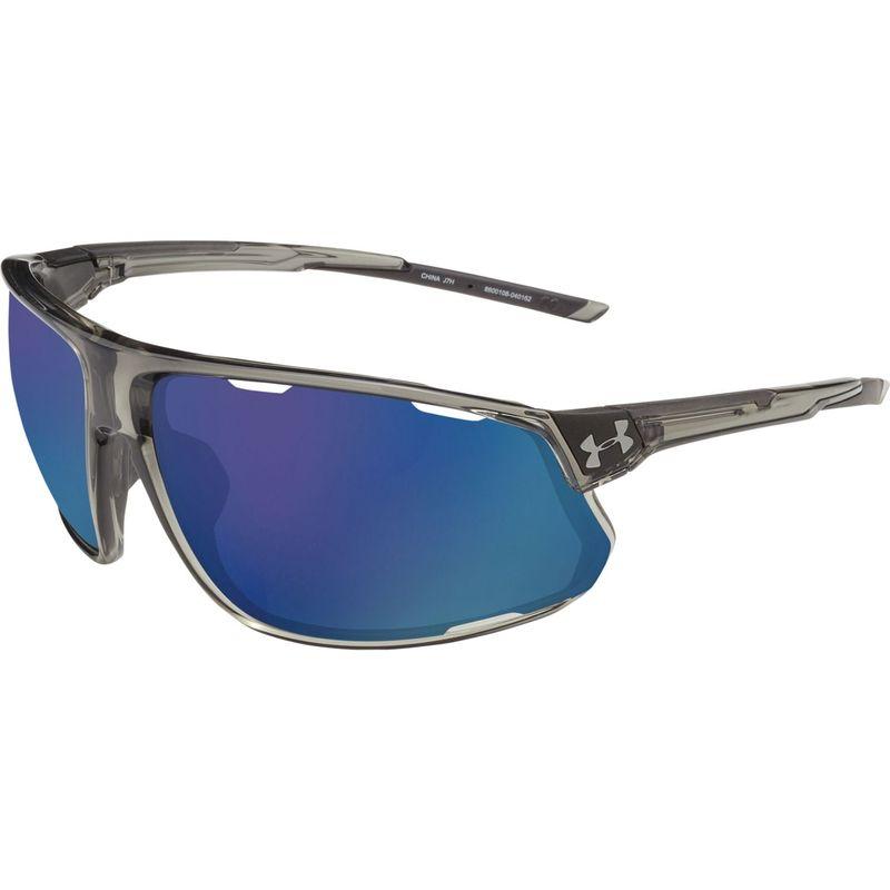 アンダーアーマー メンズ サングラス・アイウェア アクセサリー Strive Sunglasses Gloss Crystal Smoke/Black/Hi Pro Blue Mirror