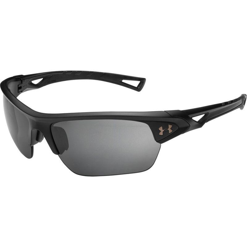 アンダーアーマー メンズ サングラス・アイウェア アクセサリー Octane Sunglasses Satin Black/Black/Graphite Polarized Mirror
