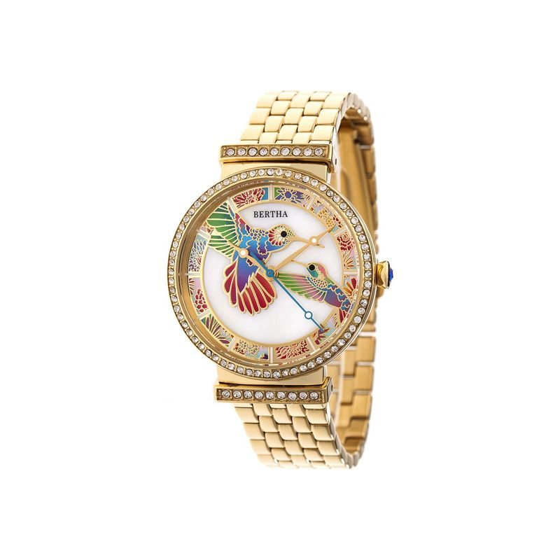 ベルサ メンズ 腕時計 アクセサリー Womens Emily Mother-Of-Pearl Watch Gold
